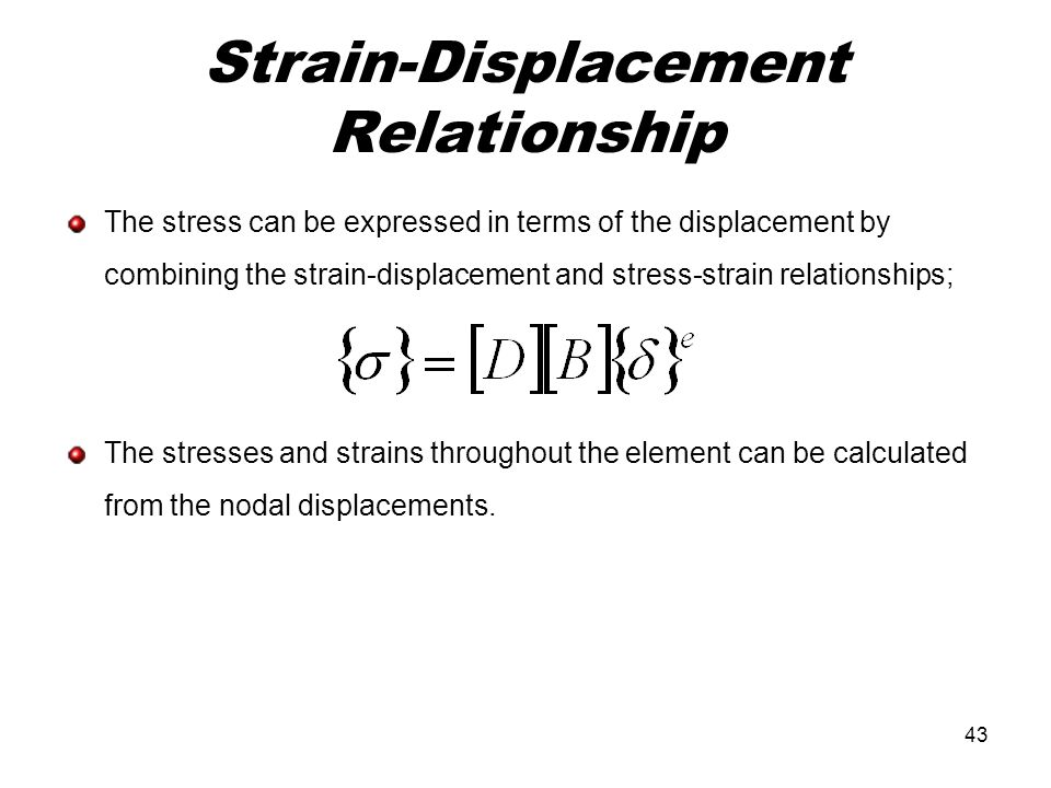 Strain-Displacement Relationship