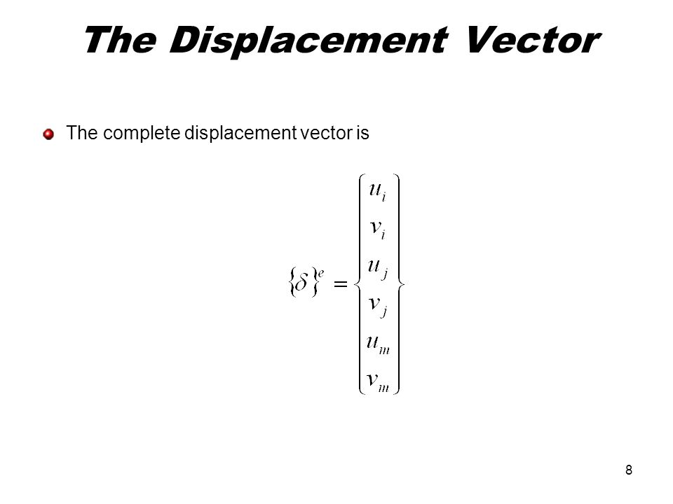 The Displacement Vector