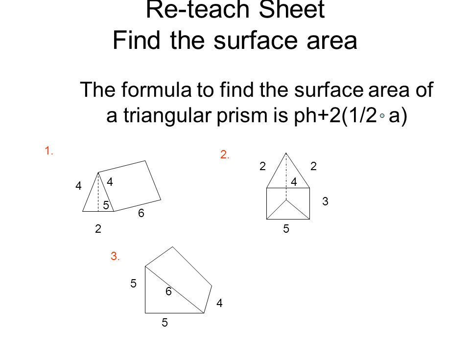 lesson plan objective swbat find the surface area of a triangular prism materials worksheets. Black Bedroom Furniture Sets. Home Design Ideas