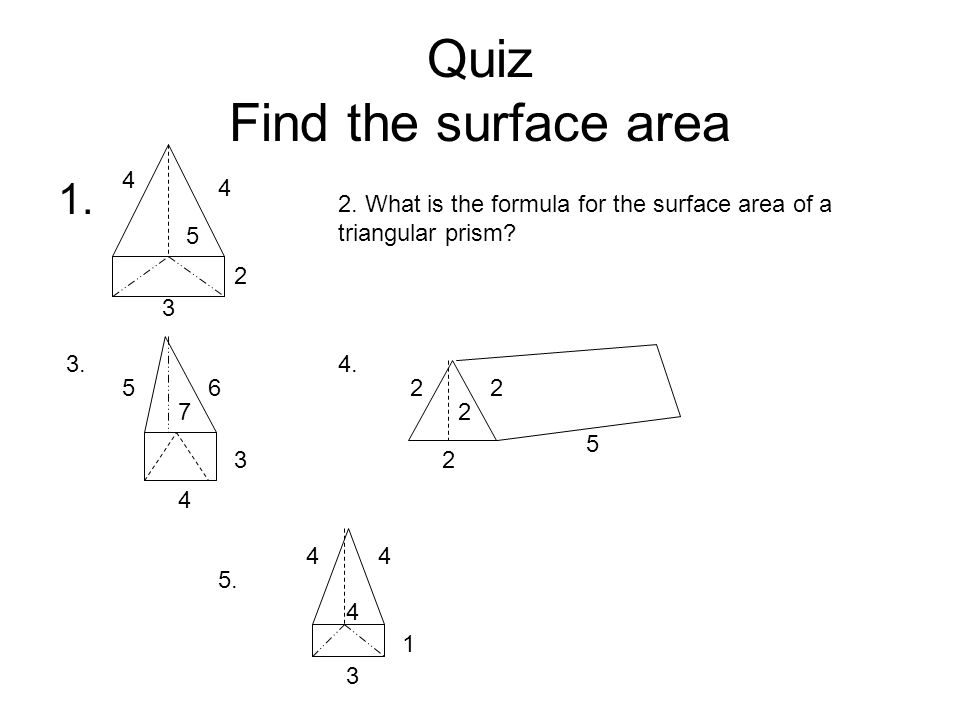 how to find surface area of a triangular prism formula