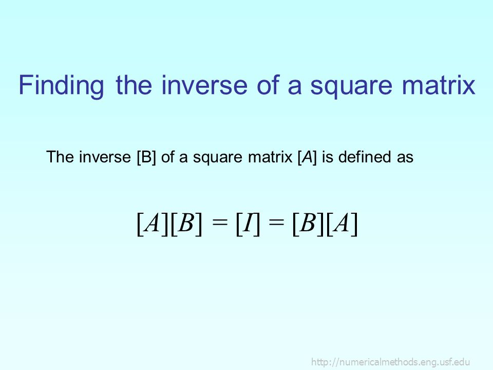 Finding the inverse of a square matrix