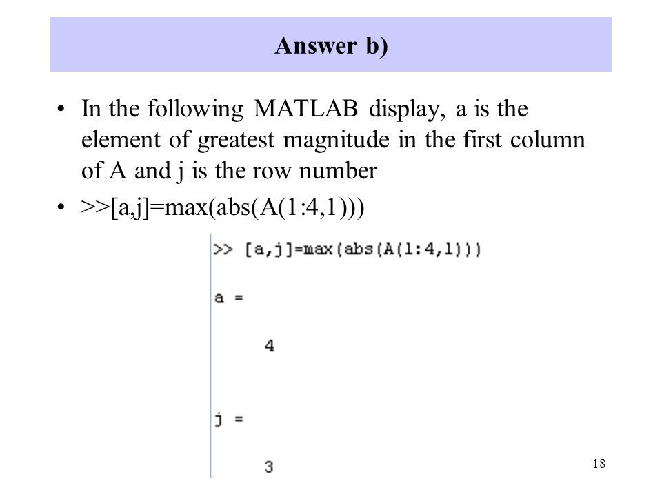 how to find the max in a row in matlab