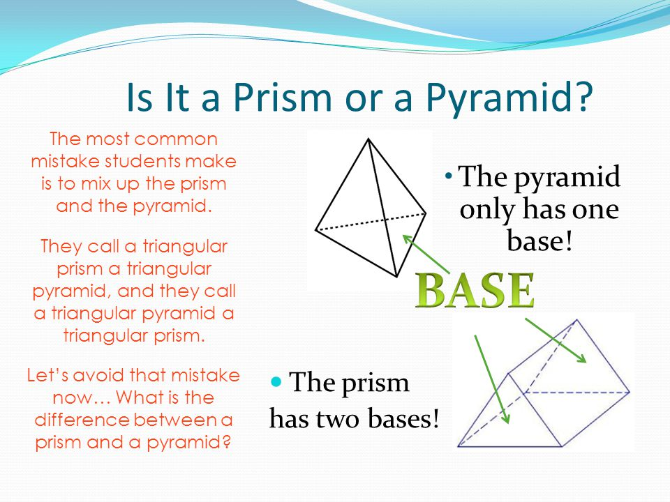 how to find a base of a pyramid