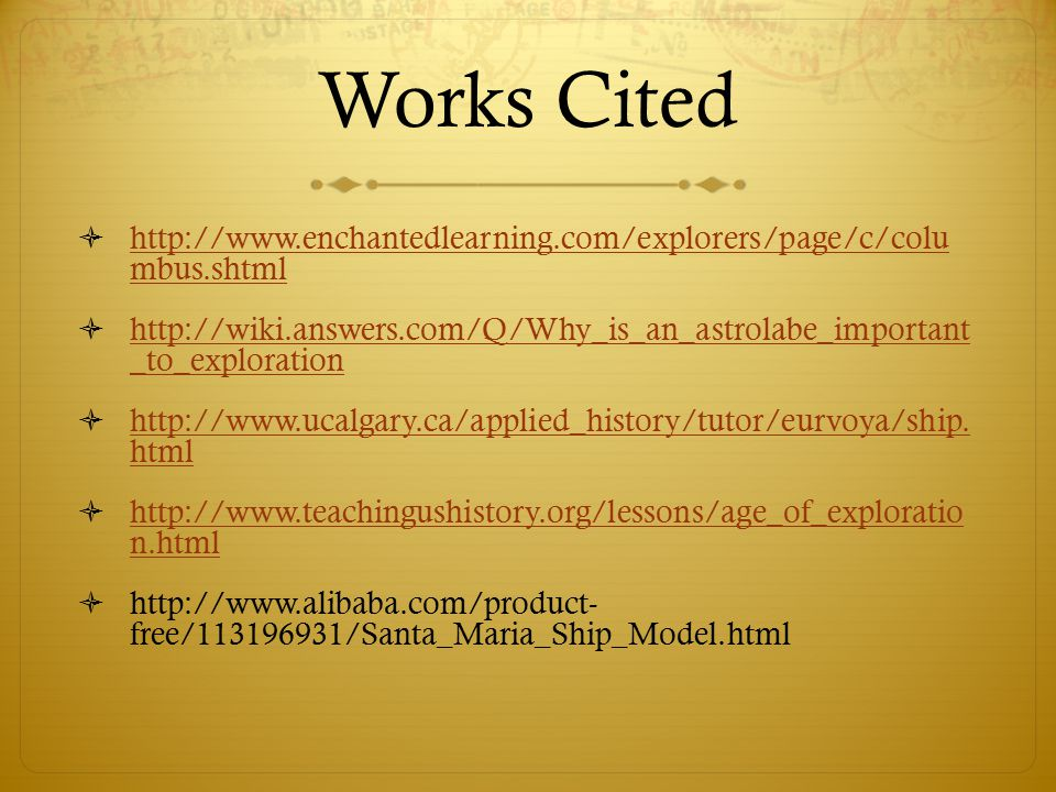 works cited calculator