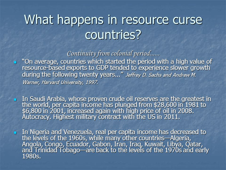 Natural Resource Curse In Nigeria