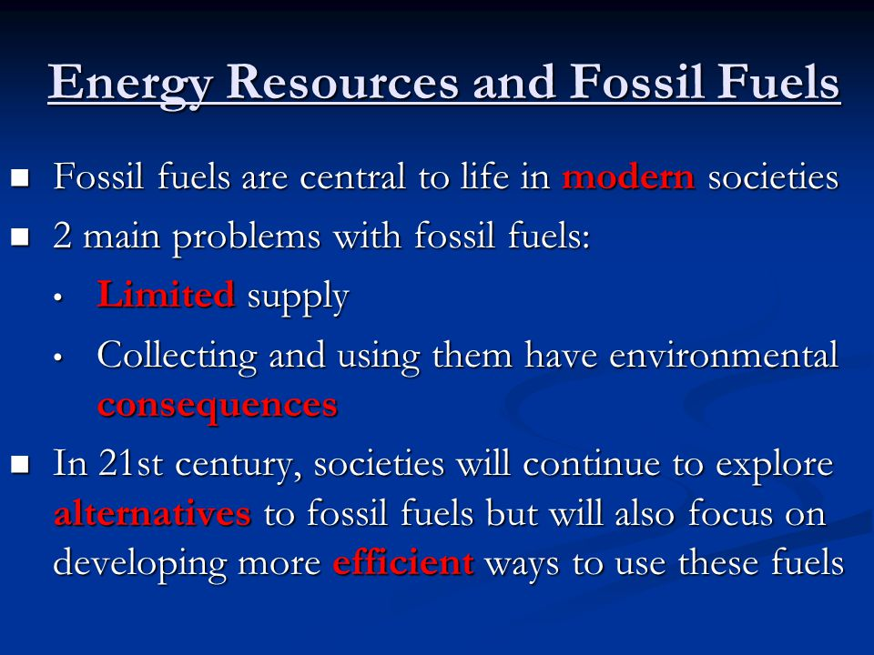 Types of Fossil Fuels and Their Uses