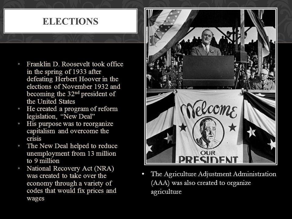 franklin d roosevelt the agriculture adjustment act the national recovery administration and the wag Even after the implementation of the works progress administration, agricultural adjustment act, national recovery administration, and tennessee valley authority, unemployment still exceeded 20 percent.