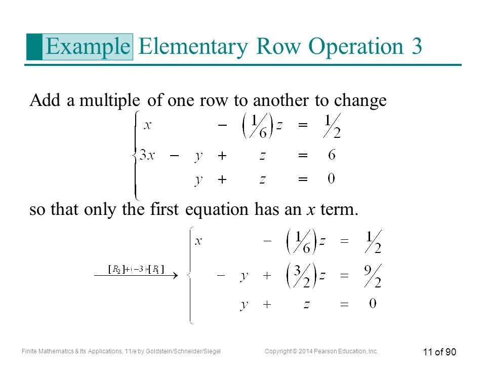 Example Elementary Row Operation 3