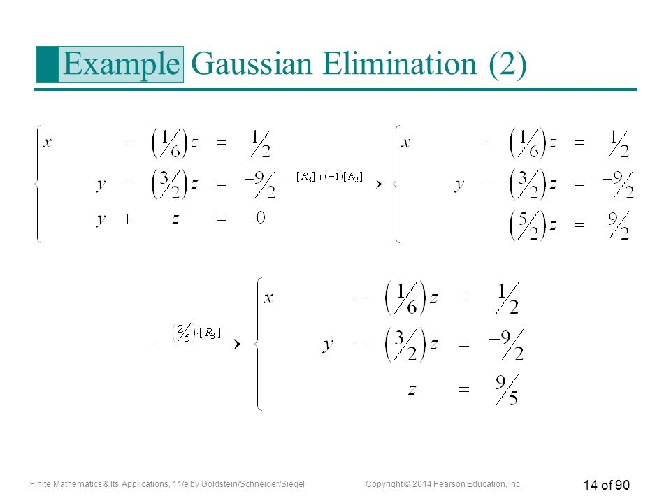 Example Gaussian Elimination (2)