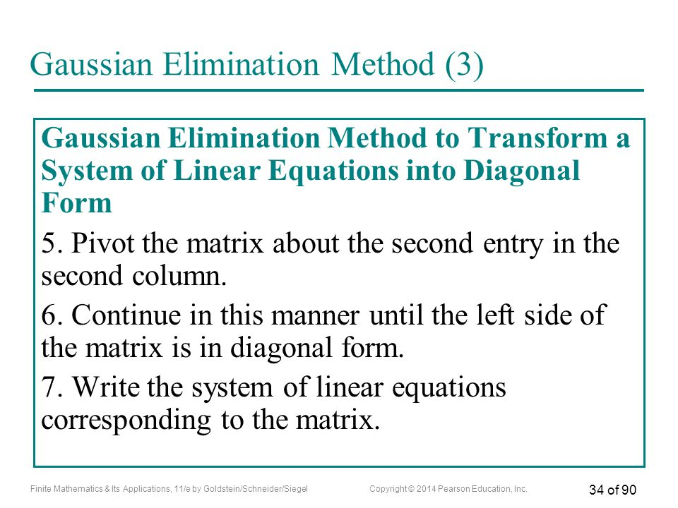 Gaussian Elimination Method (3)