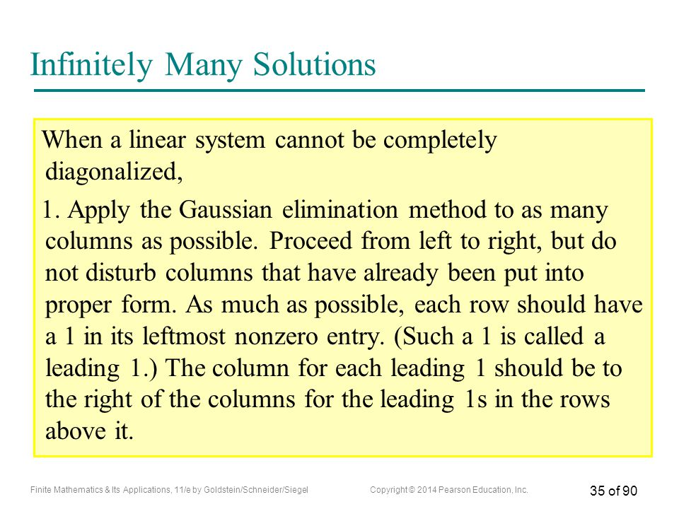 Infinitely Many Solutions