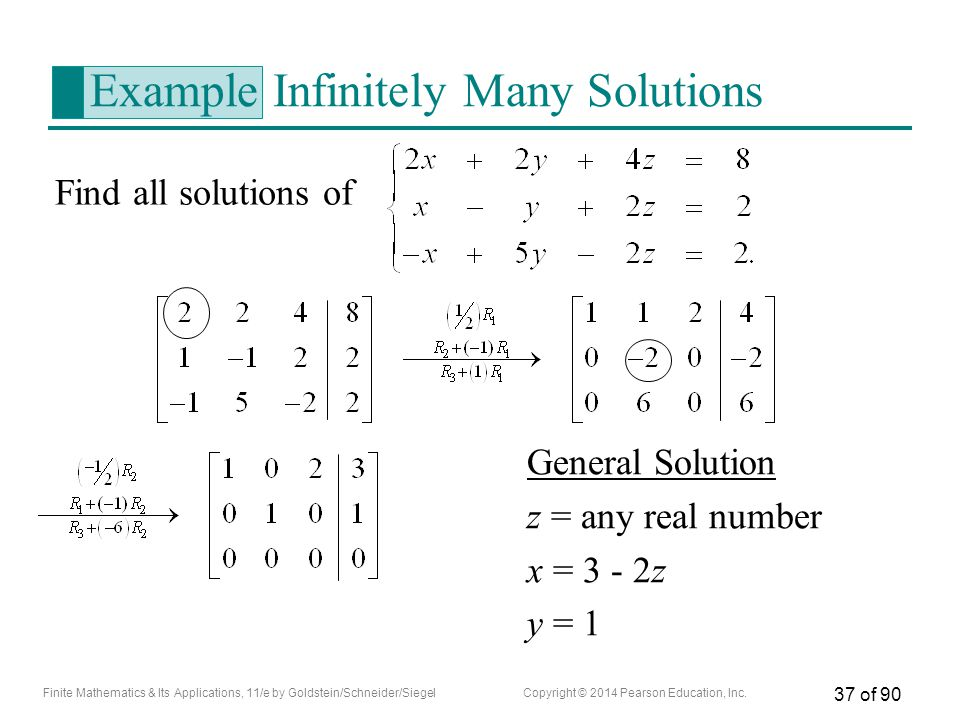 Example Infinitely Many Solutions