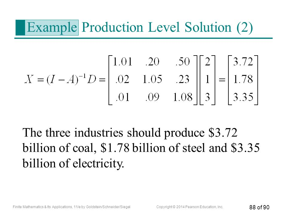 Example Production Level Solution (2)