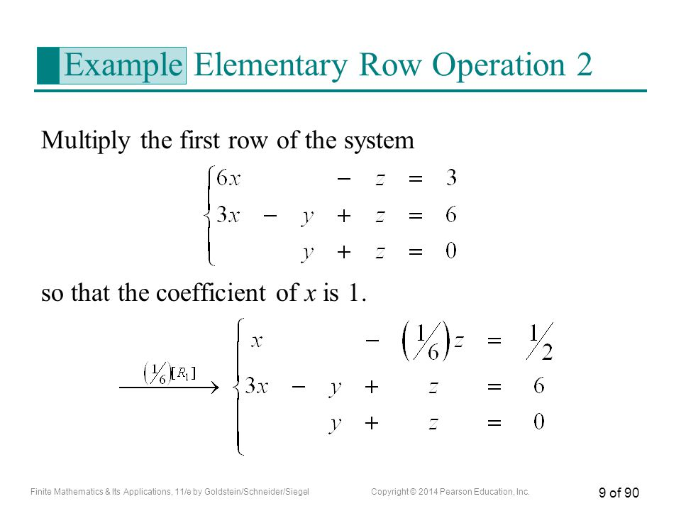 Example Elementary Row Operation 2