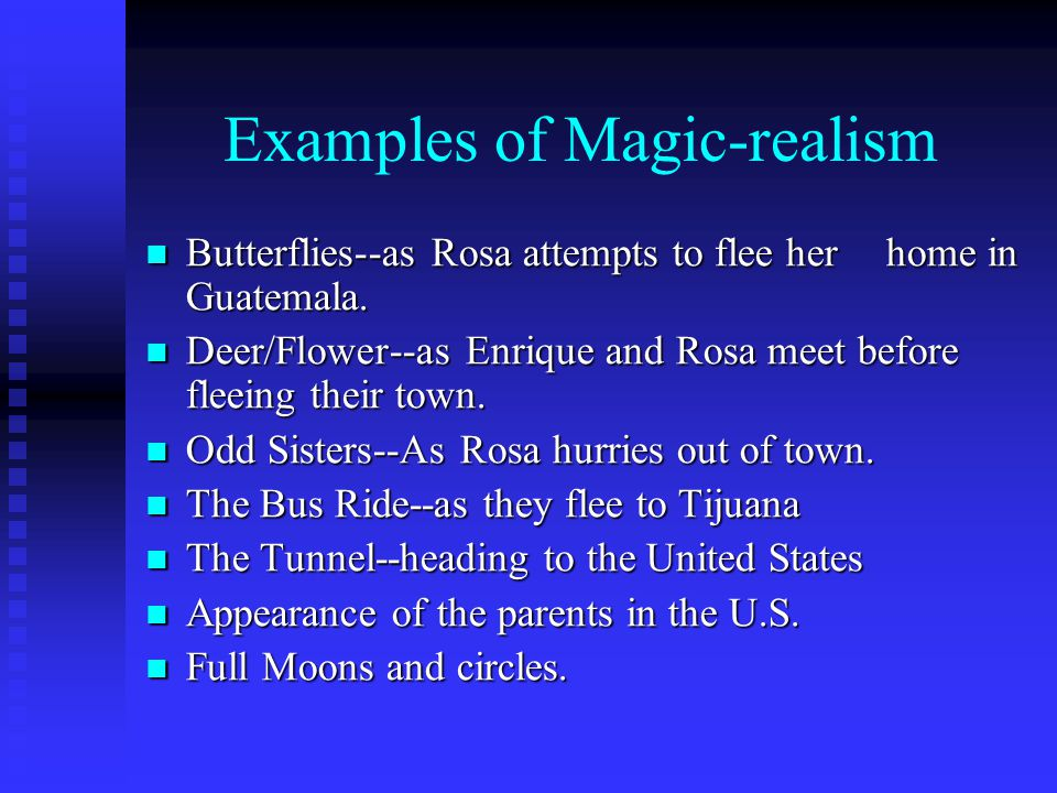 the use of magical realism