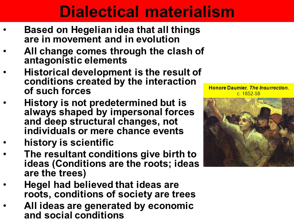 the main ideas of historical materialism Main menu home about  marx and historical materialism posted jan 29, 2018 by eds  these ideas don't arise in a vacuum and they don't merely have a life.