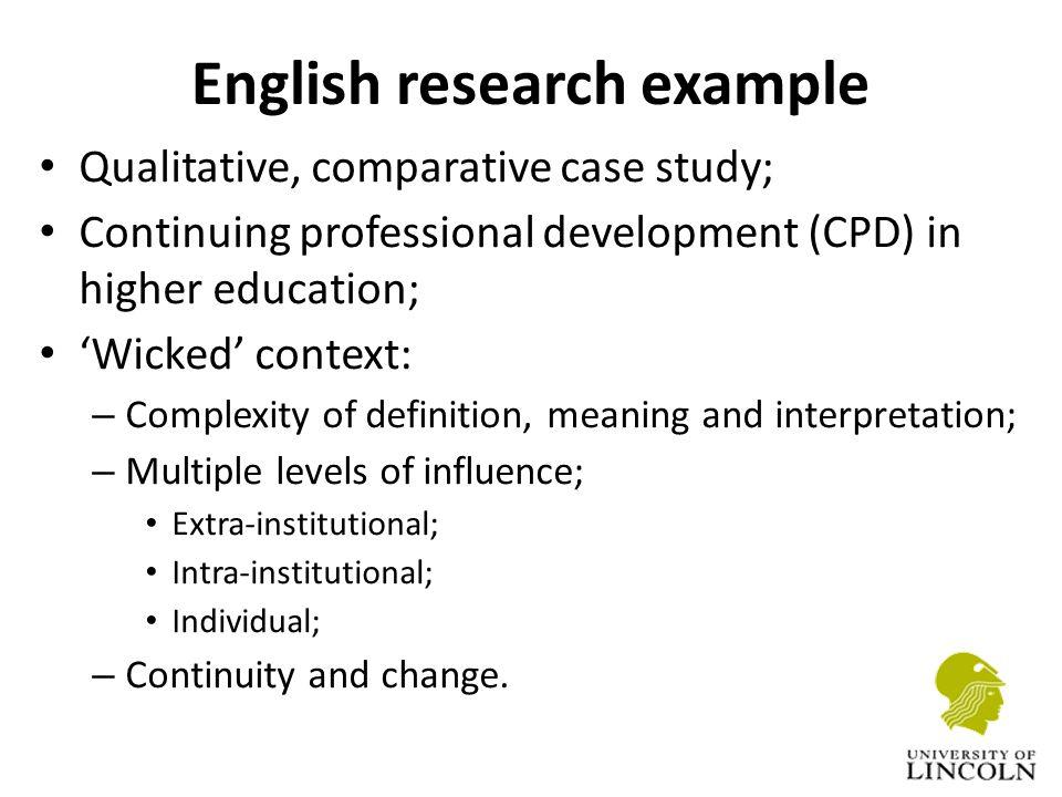 english reserach