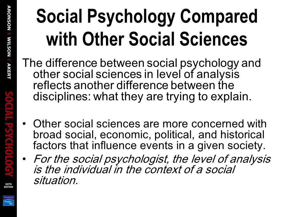Psychology benefit to social sciences Essay Sample