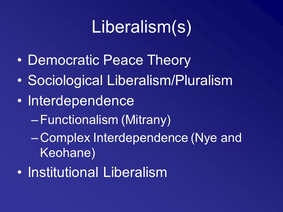 Neoclassical liberal democratic theory and the