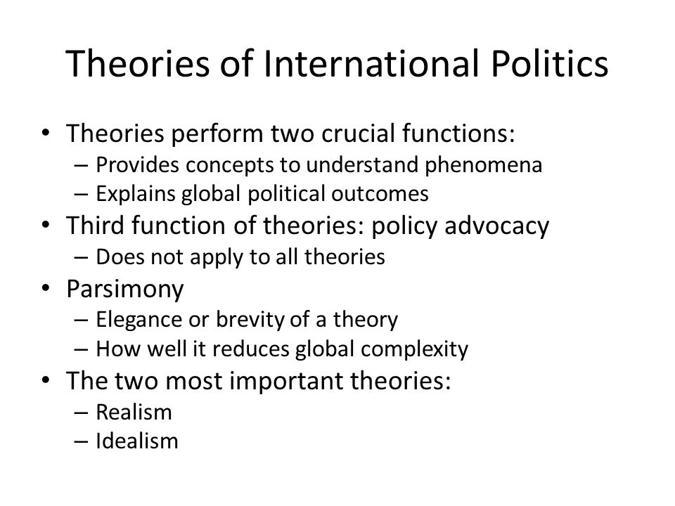 importance of political theory Get free shipping on kant's political theory by elisabeth ellis, from worderycom past interpreters of kant's thought seldom viewed his writings on politics as having much importance, especially in comparison with his writings on ethics, which (along with his major works, such as thecritique of pure reason.