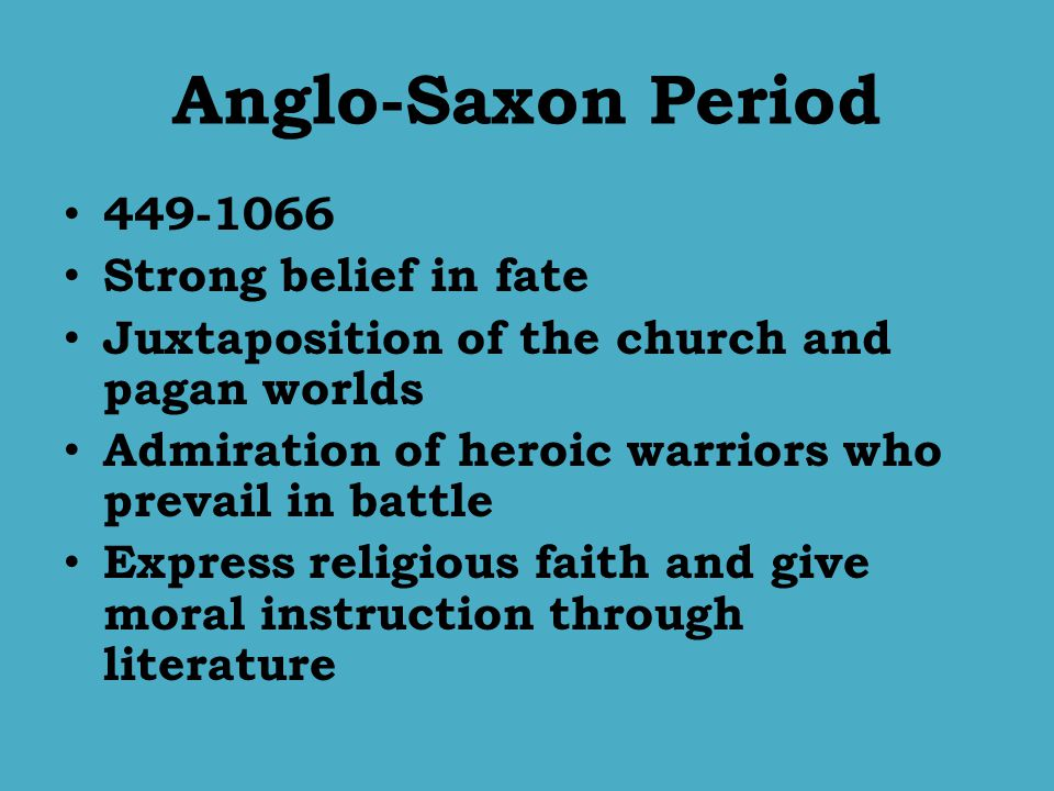 anglo saxon religious poetry How was easter celebrated in anglo-saxon  for the kinds of religious observance which anglo-saxon congregations could  english poetry part of the.