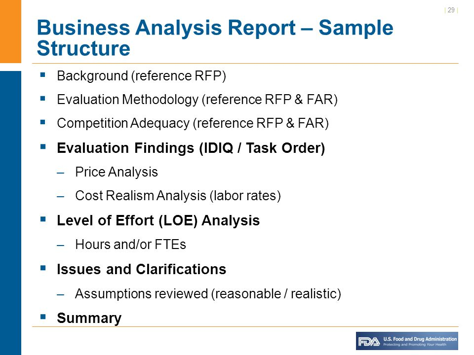 Business Analysis Report When Writing The Analysis Report