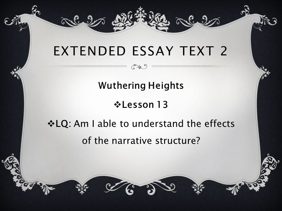 wuthering heights narrative structure The two-part structure of wuthering heights the point of division firstly, it needs to be recognised that there is a dividing point in the novel with the death of catherine and the birth of her daughter.