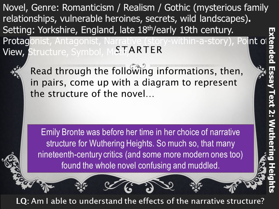 wuthering heights emily bronte ppt  extended essay text 2 wuthering heights