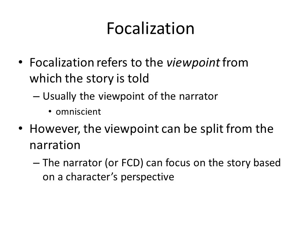 how to tell if a narrator is omniscient