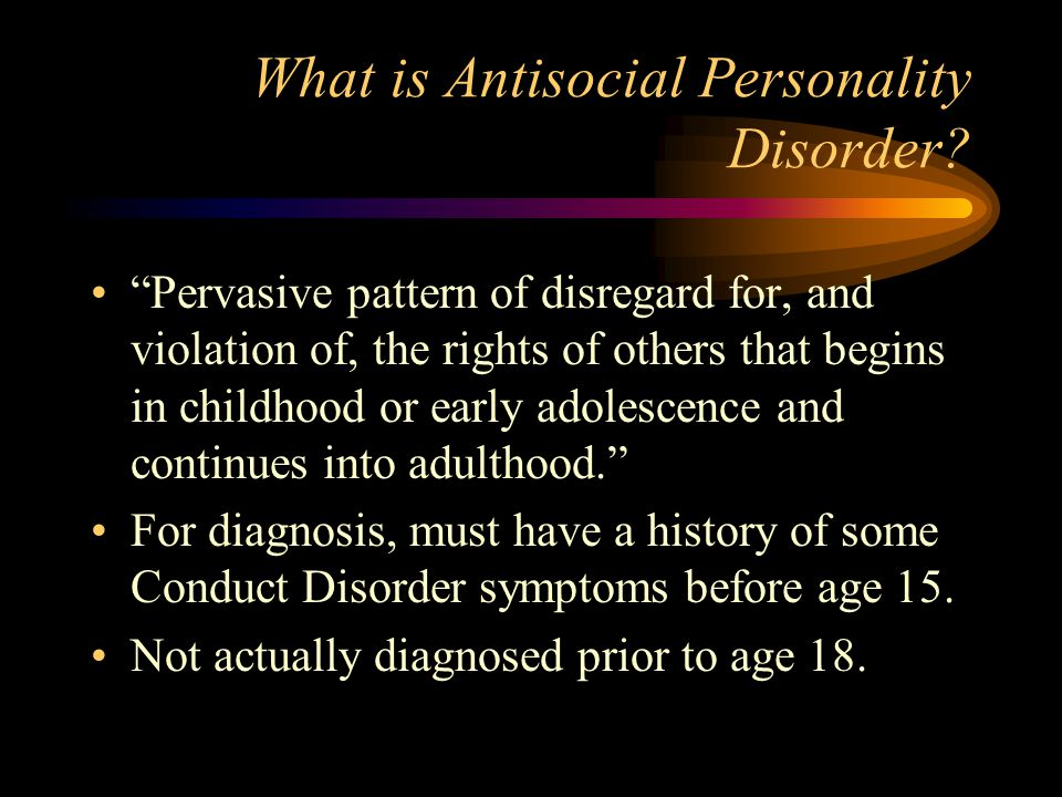 what is antisocial personality disorder pdf