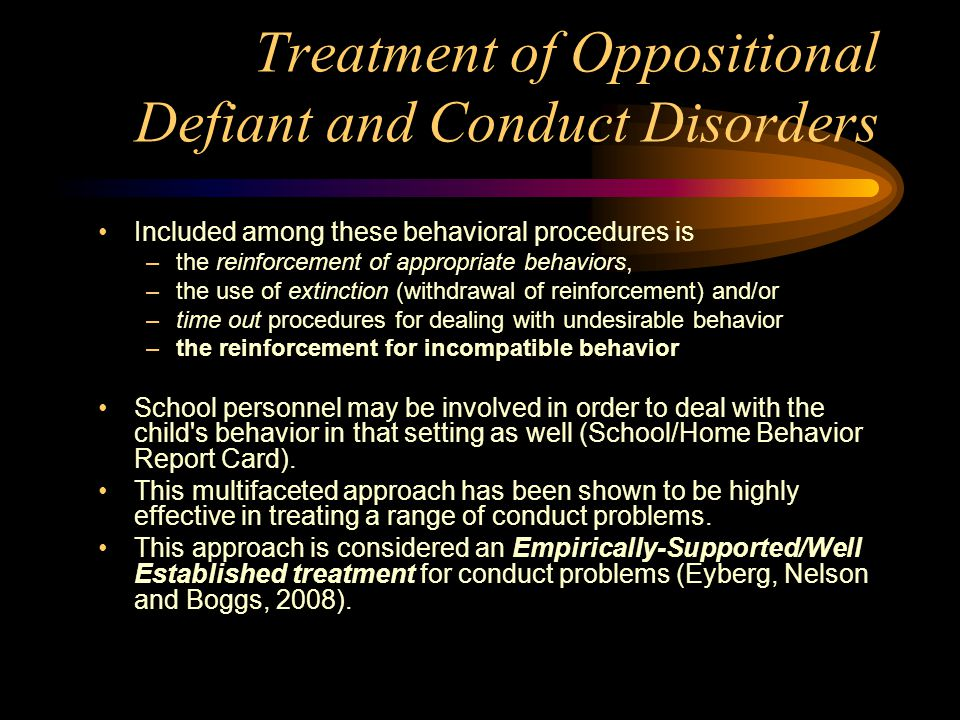 Oppositional Defiant and Conduct Disorder - ppt download
