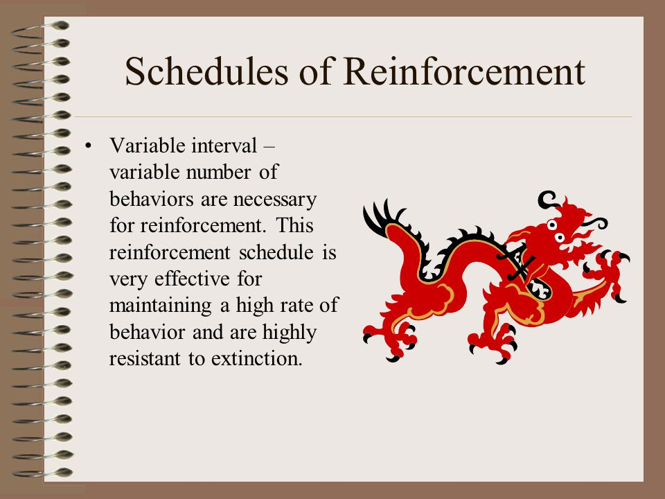 role of schedules of reinforcement Of humans, and dynamic schedules of reinforcement all of the experiments are  discussed in relation to the role of behavioral history in current schedule.