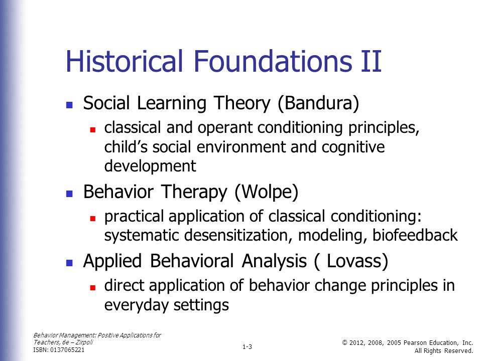 Historical Foundations II