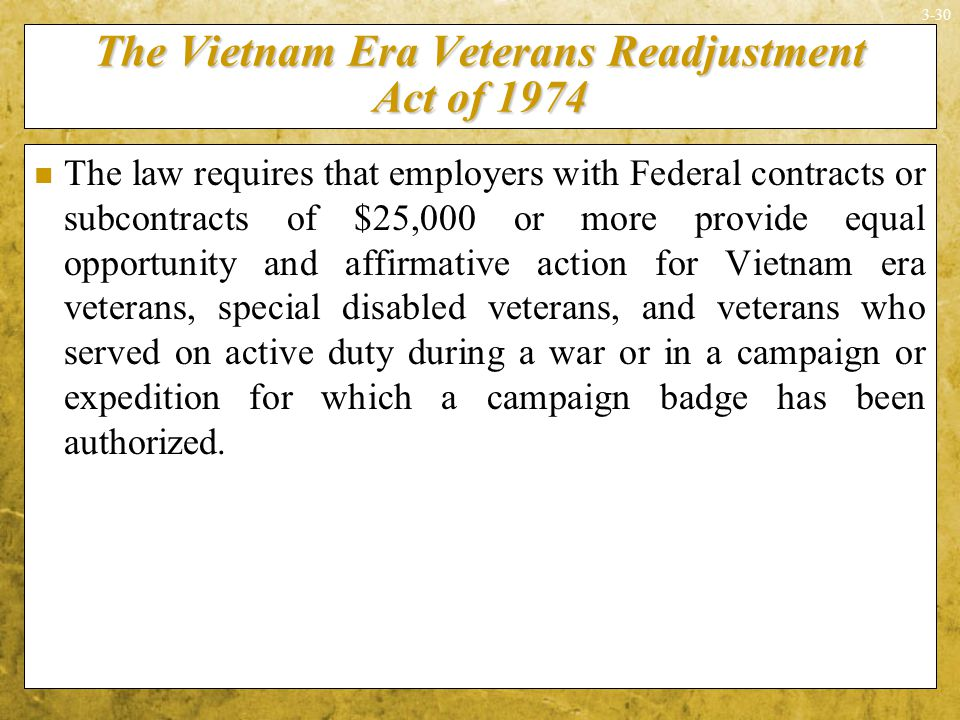 Vietnam veterans and readjustment