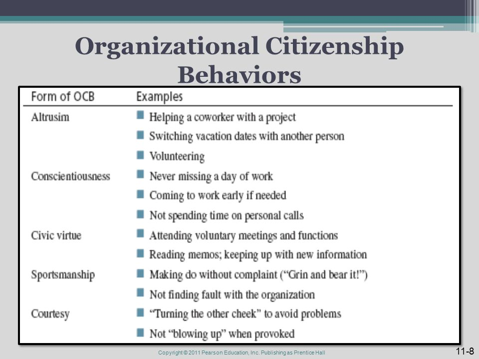 Organizational citizenship behaviour