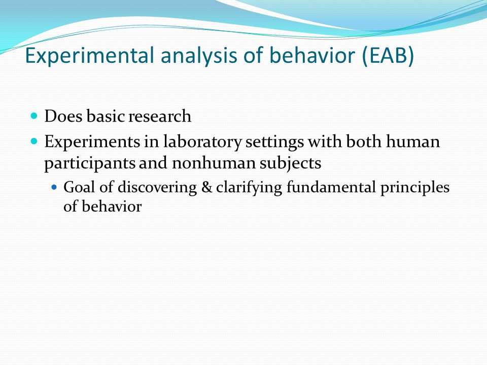 experimental analysis on enzymatic behavior of For a long time the analysis of behavior took the form of the discovery and   thirdly, we must select or construct an experimental space which can be well.