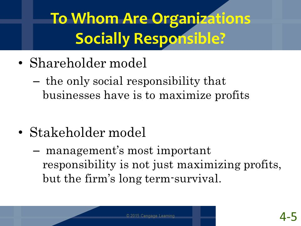 To Whom Are Organizations Socially Responsible