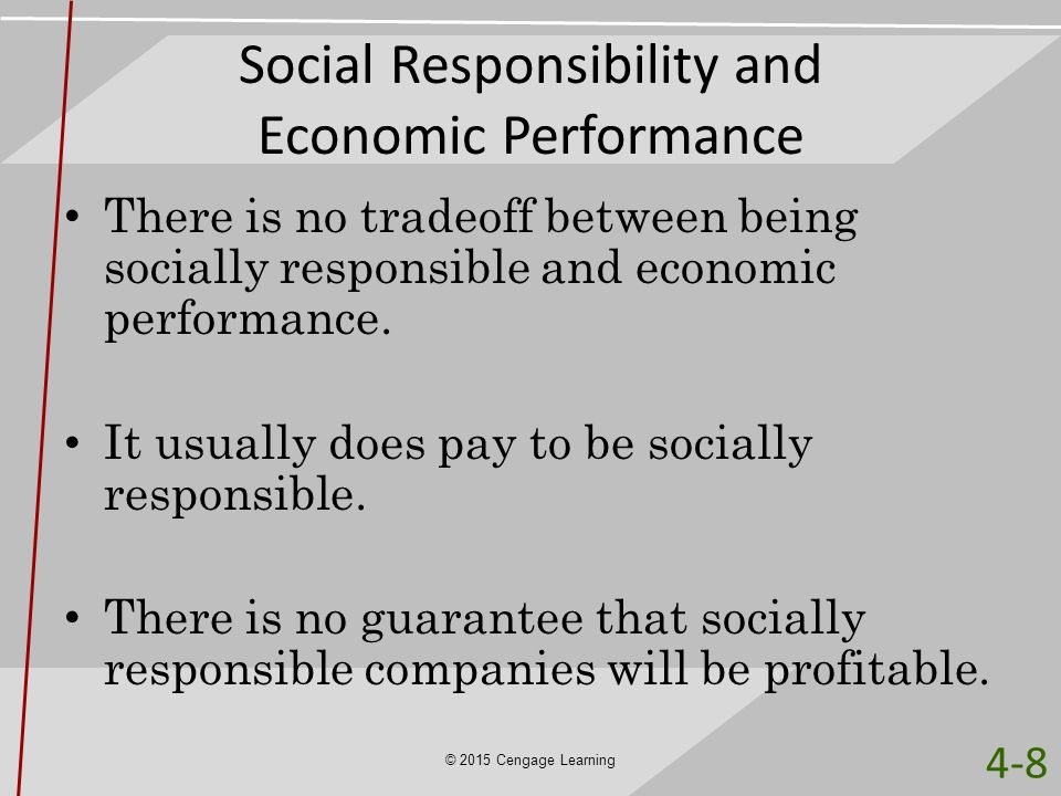 Social Responsibility and Economic Performance