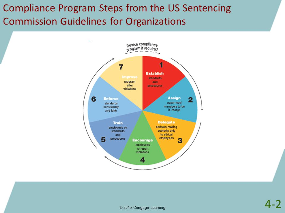 Compliance Program Steps from the US Sentencing Commission Guidelines for Organizations