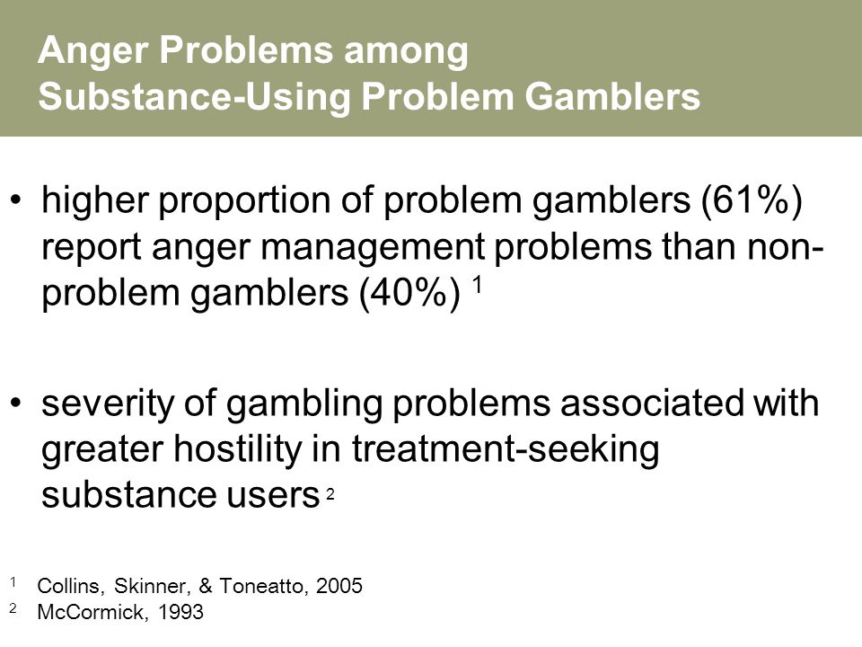 Partner with gambling problem