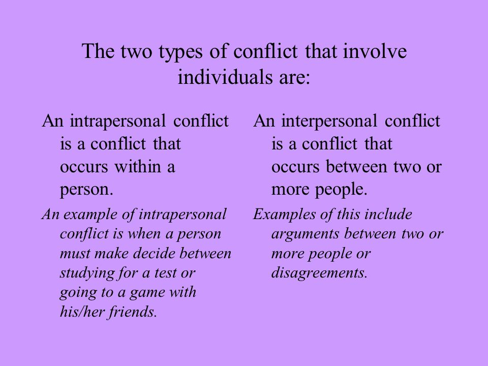 why would decision making styles be a source of interpersonal conflict Interpersonal conflict definition interpersonal conflict is an important concept thus, it is important to define interpersonal conflict what is an.