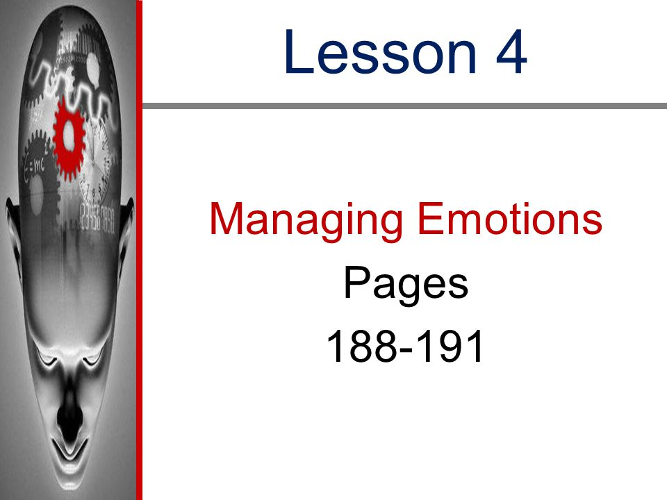 Lesson 4 Managing Emotions Pages