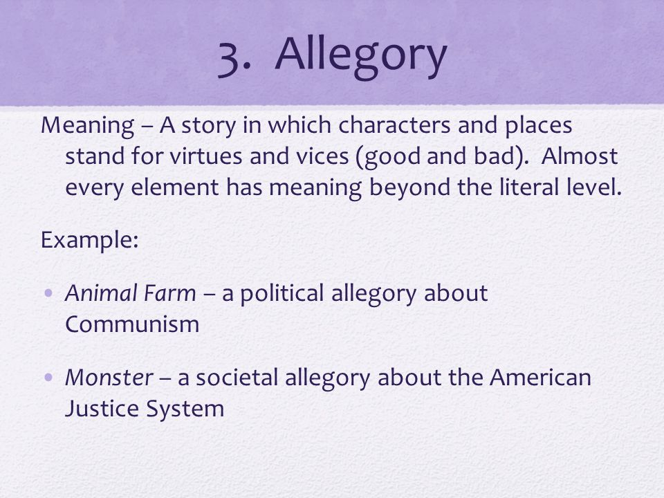 attitude meaning symbolism and allegory Symbolism and allegory q: what does it mean to define, recognize  identify the figurative (symbolic) meaning of the symbol explain why the symbol was used.
