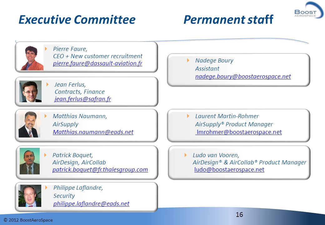 Executive Committee Permanent staff