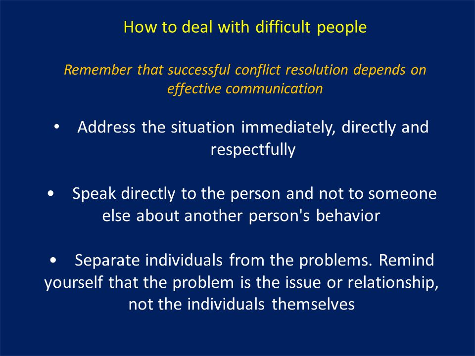 how to live with difficult people