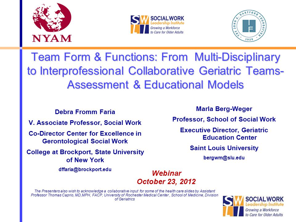 Team Form & Functions: From Multi-Disciplinary To