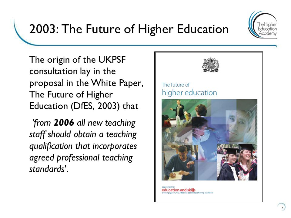 2003: The Future of Higher Education
