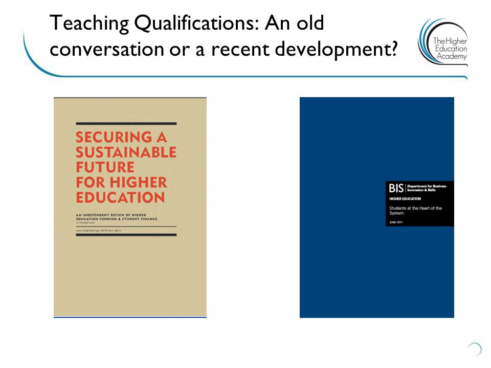 Teaching Qualifications: An old conversation or a recent development