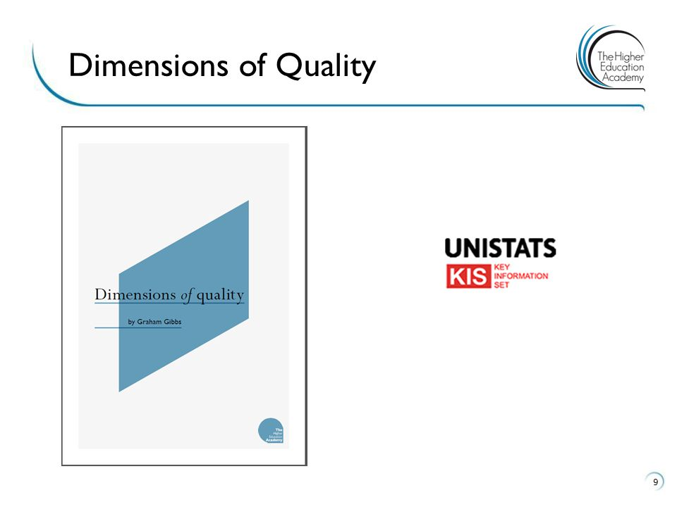 Dimensions of Quality As Gibbs identified the following dimensions of a high quality learning experience and talks about.