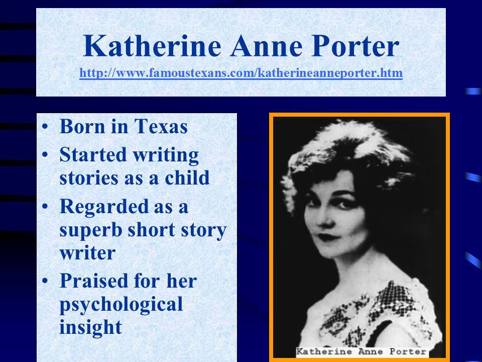 a review of katherine anne porters the jilting of granny weatherall The jilting of granny weatherall by porter, katherine anne, 1890-1980 there are no reviews yet.